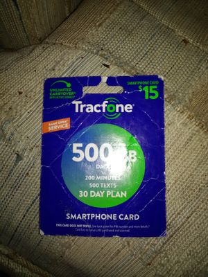 Tracfone 15.00 plan for Sale in Mason City, IA