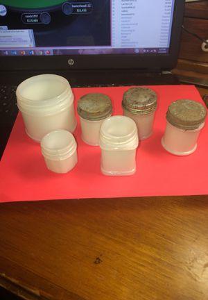 Vintage Milk Glass Bottle/Jar Collection Recently Dugup as Pictured for Sale in Sicklerville, NJ