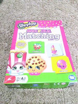 Kids game - Shopkins Matching card game.(60 cards and 4 tokens) for Sale in Austin, TX