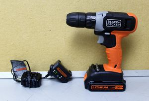 Black & Decker BCD702 20V 10mm Drill/Driver With 1.5AH Battery and Charger for Sale in Sunrise, FL