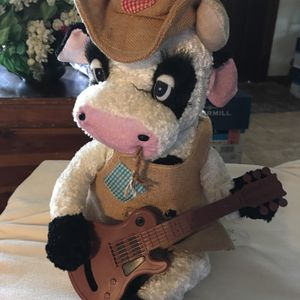 Western Stuffed Cow With Guitar. for Sale in Bensalem, PA