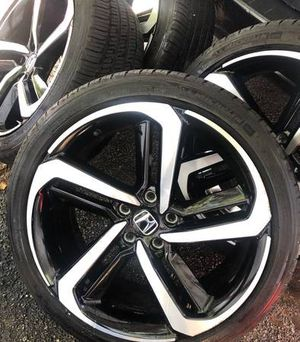 19 inch accord sport wheels....four new tires...wheels are mint for Sale in East Hartford, CT