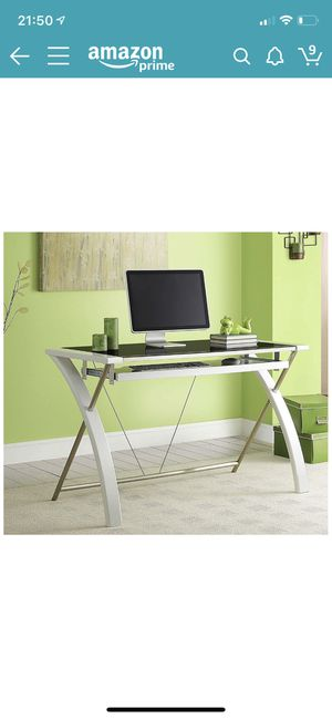 Whalen Furniture Zara Desk, 48-Inch, White for Sale in Kenmore, WA