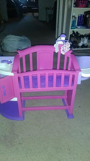 Baby doll crib/highchair for Sale in Salt Lake City, UT