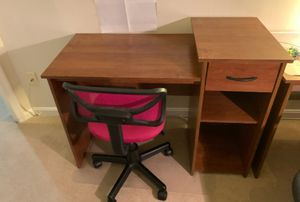 Desk with chair. L-43 1/4, H-32, W-19 1/2 for Sale in Lorton, VA