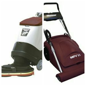 Minuteman mpv 31 vacuum!! With a 240x floor scrubber, double disk!! Great price for the two! Price negotiable. Please send me an offer for Sale in Oakland Park, FL