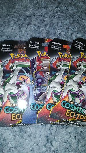 5 Pokemon Trading Card single packs Cosemic Eclipse for Sale in Clovis, CA