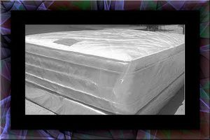 """Full 16"""" double pillowtop mattress with box for Sale in Manassas, VA"""