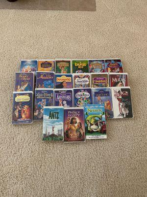 21 Rare Disney & Dreamworks VHS videos for Sale in Elk Grove, CA