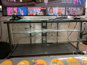 TV Glass Stand Table for Sale in Tustin, CA