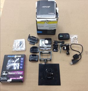 GoPro Hero3+ w/ WiFi Remote, Filter, Mounts and Accessories (19-117) for Sale in Beltsville, MD