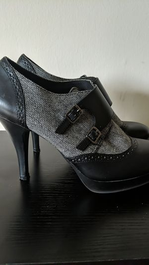 Black and gray patterned heeled shoes for Sale in Washington, DC