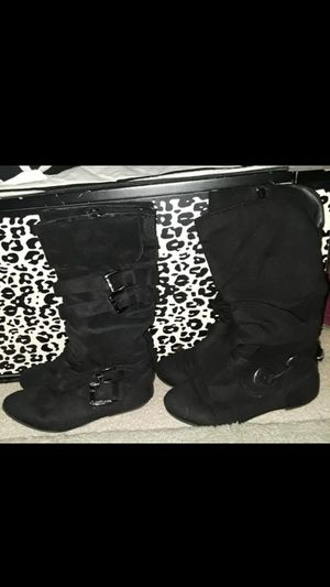 Girls black boots size 1 and 1.5 for Sale in Spring Hill, FL