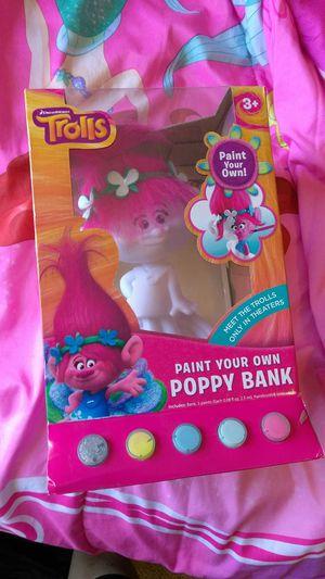 Trolls, paint ur own piggy bank for Sale in San Diego, CA