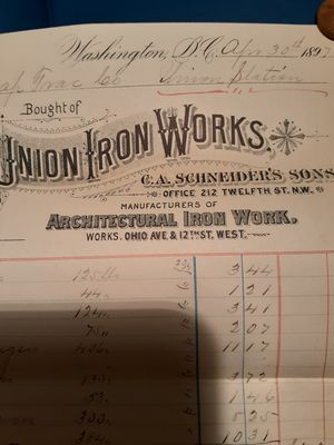 Vintage union iRon works paper 1897 for Sale in Fort Washington, MD