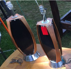 Mid century Teakwood/Lucite Lamps(2) for Sale in Baltimore, MD