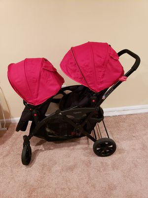 Contour Double stroller (chico car seat not included) for Sale in Gaithersburg, MD