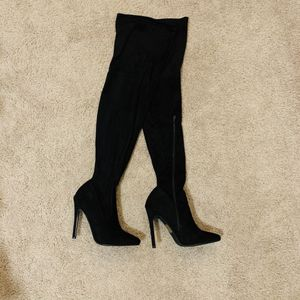 JustFab over the knee stiletto boots for Sale in Smyrna, GA