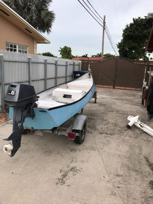 13' Gheenoe with 6hp Yamaha and trailer for Sale in Hialeah, FL