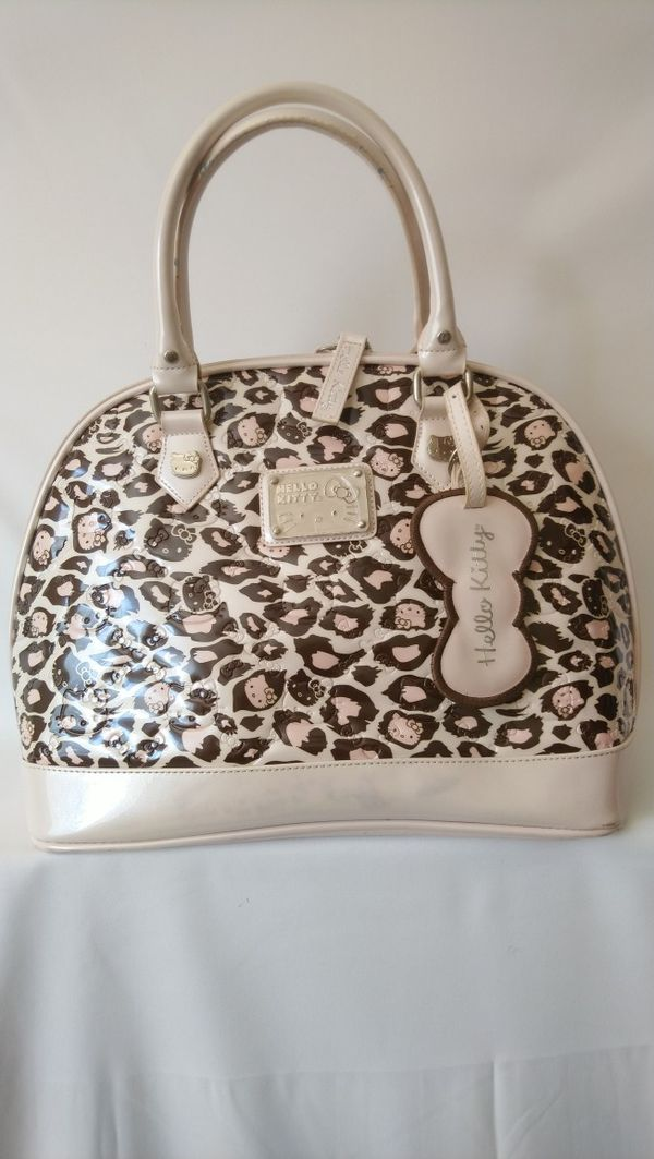 Hello Kitty Women's Brown And Cream Tote Bag
