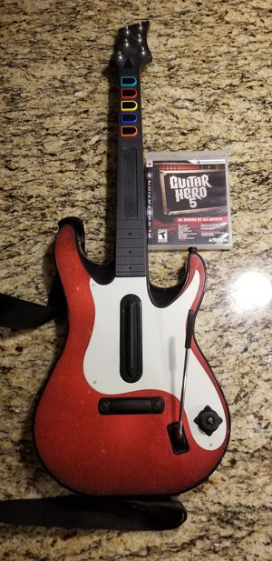 Guitar hero 5 game and guitar for Sale in Surprise, AZ