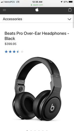 Beats by Dre studio pro headphones for Sale in Sacramento, CA