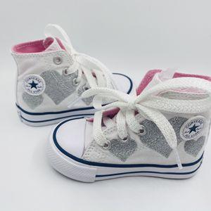 NWOB Baby Girl High Top Converse for Sale in Herriman, UT