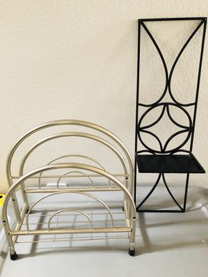 Stainless Steel magazine rack and Candle Holder for Sale in Henderson, NV