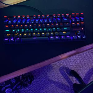 Redragon K552 Mechanical Gaming Keyboard RGB LED Rainbow Backlit Wired Keyboard with Red Switches for Sale in Wanamassa, NJ