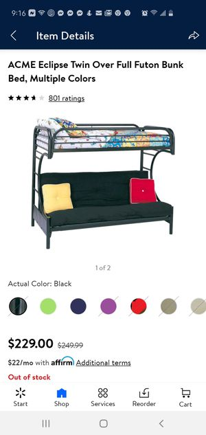 Futon bunk bed for Sale in Cheektowaga, NY