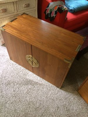 Vintage solid wood Japanese tansu double chest/dresser for Sale in BELLEVUE, WA