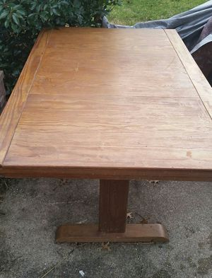 Solid Wood Kitchen Table for Sale in Virginia Beach, VA