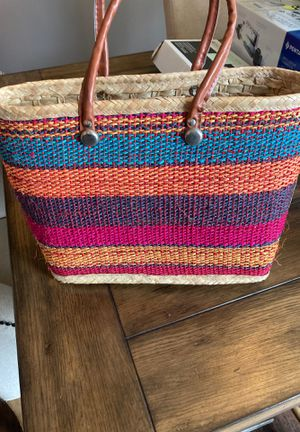 STRAW TOTE BAG FROM MEXICO for Sale in Mt. Juliet, TN
