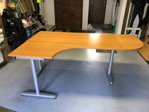 Desk, IKEA Galant, adjustable height for Sale in Maple Valley, WA