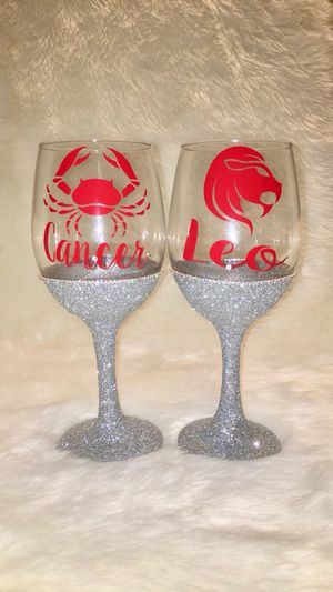 Zodiac Wine Glass for Sale in Oxon Hill, MD