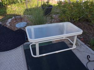 vintage aluminum table glass top rust proof for Sale in Ruskin, FL