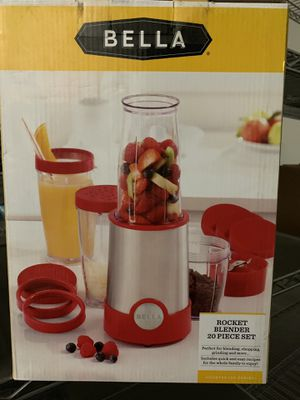 Bella rocket blender 20 piece set brand new smoothie maker shakers stainless steel red color for Sale in Modesto, CA