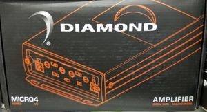 Diamond audio Micro4v2 4 channel mini motorcycle perfect for Harley Davidson amplifier for Sale in Beverly Hills, CA