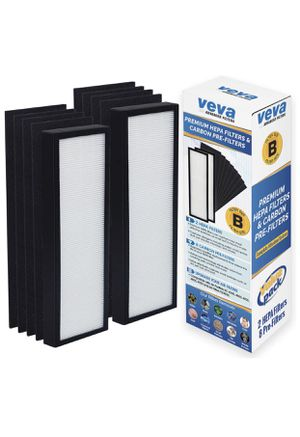 . Premium 2 HEPA Filters and 8 Pack of Pre-Filters compatible with Air Purifier Model AC4825 and Replacement Filter B by Veva Advanced Filters for Sale in Las Vegas, NV