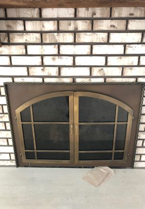 Fireplace door with inside screen for Sale in Orland Park, IL
