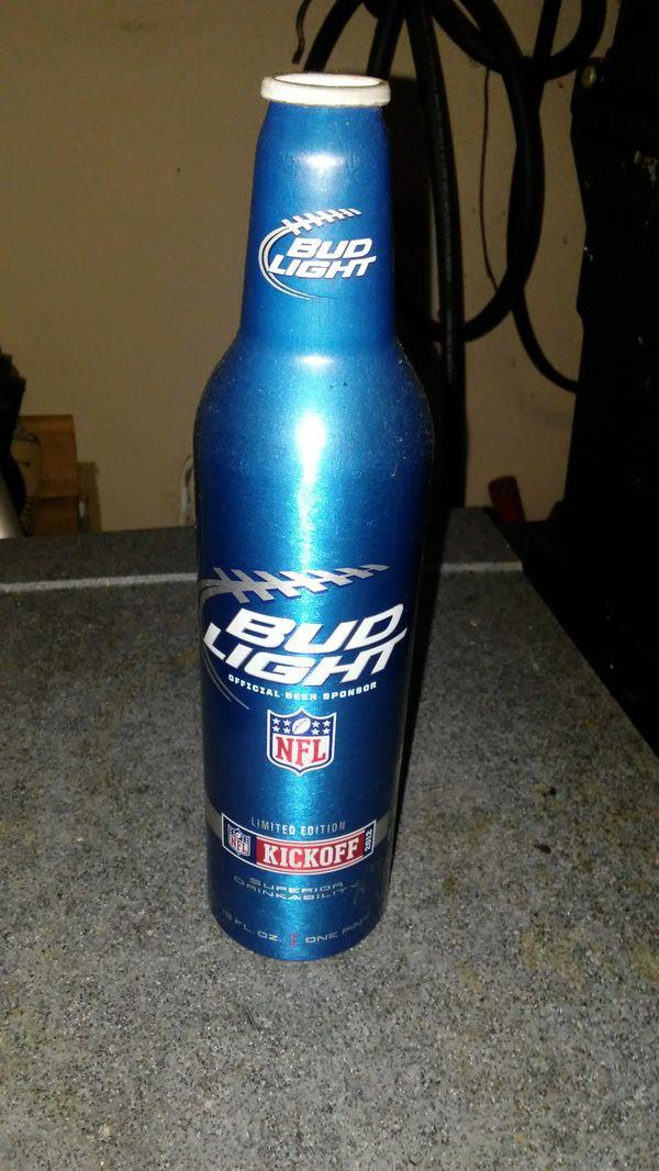 NFL Bud Light Special Edition aluminum bottle