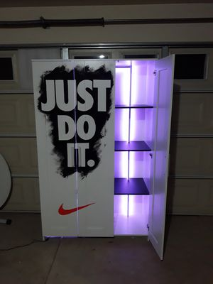 Nike custom closet with rack for shoes for Sale in Pomona, CA