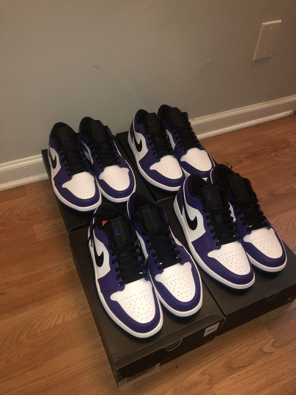 Air Jordan 1 Low Court Purple