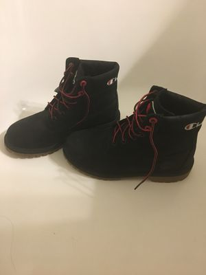Black& red Timberland x champion boots for Sale in Lanham, MD