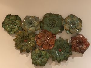 Metal Flower Wall Decor $40 OBO for Sale in Fairfax, VA