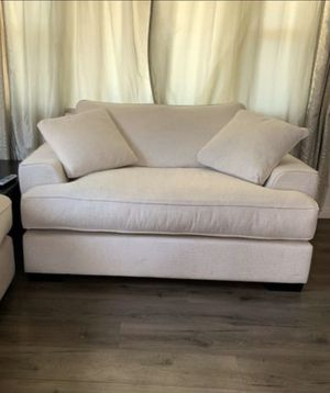 "65"" Fabric Oversized Chair with 2 Toss Pillows LIKE NEW for Sale in Glendale, CA"