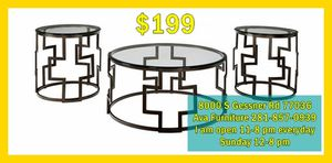 three pieces coffee table set for Sale in Houston, TX