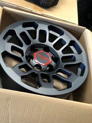 TRD Matte black Rims 17x8 (4 for $599) for Sale in Whittier, CA