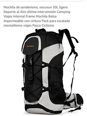 50L Hiking Backpack EcoSun Waterproof Camping Backpack Outdoor Sport for Sale in Ontario, CA