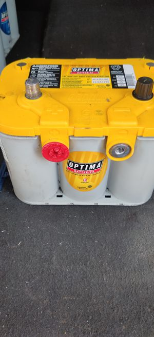 YELLOWTOP DEEP-CYCLE BATTERY AVAILABLE GEL OPTIMA BATTERY'S AVAILABLE 8 MONTH WARRANTY CORE EXCHANGE IS NEEDED for Sale in Orange, CA